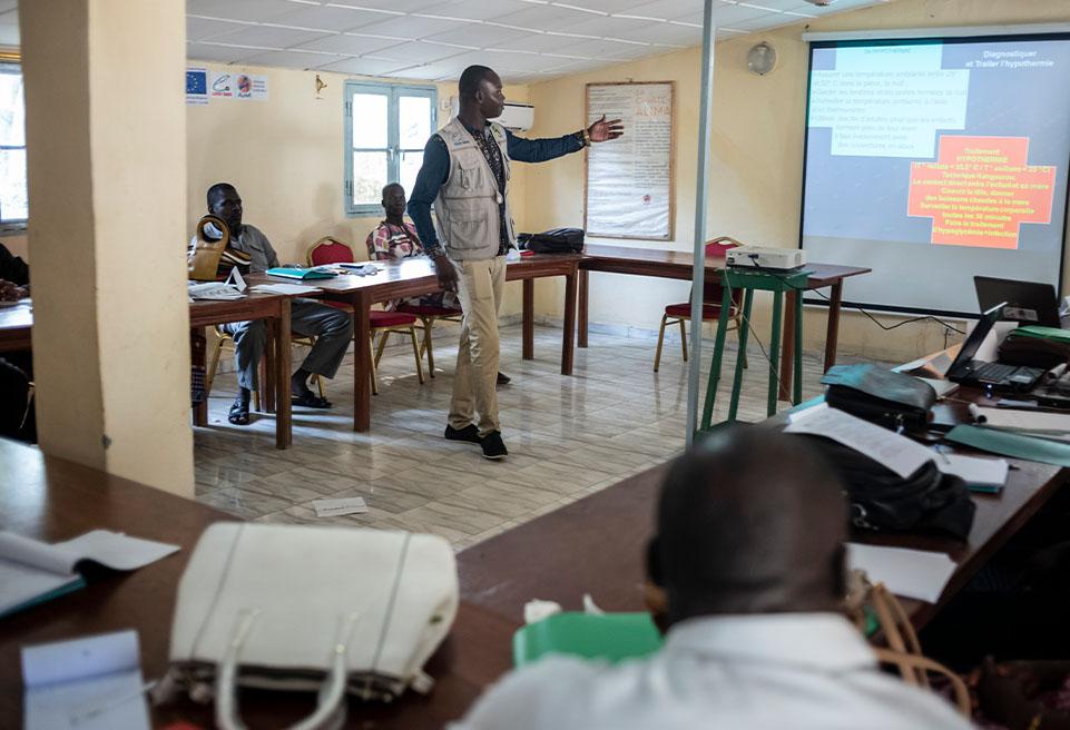 ALIMA dispense des cours de formation sur la malnutrition aux personnels de santé tchadien.