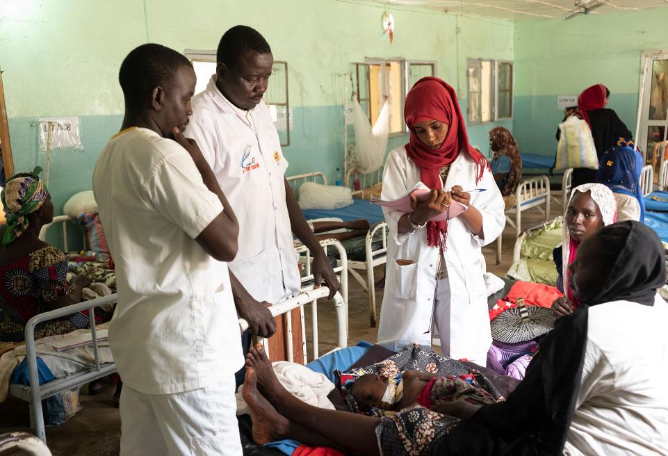 Consultation quotidienne dans l'UNT à Ndjamena au Tchad