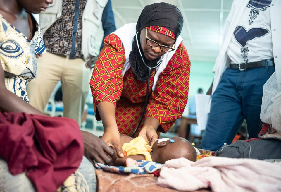 Dr Nafissa Dan-Bouzoua, référent médical pour ALIMA est en visite à l'UNT de Ndjamena.