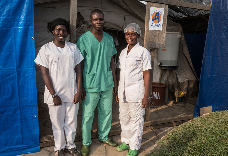 Equipe ALIMA à l'Hôpital Régional de N'Zérékoré.