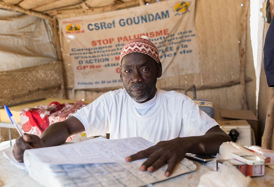 Adboulaye Amadou, gardien. Hôpital de Goudam, Mali.