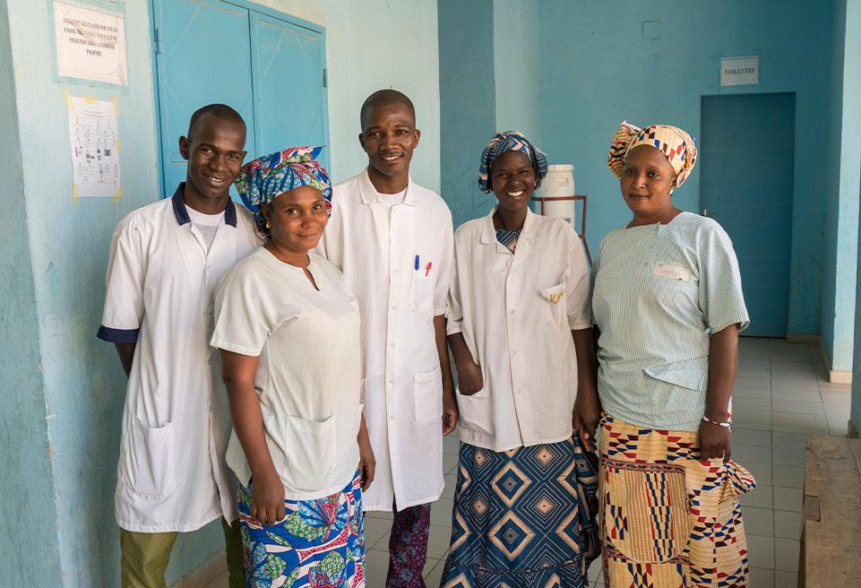 Équipe pédiatrique, Hôpital de Référence de Diré, Mali.